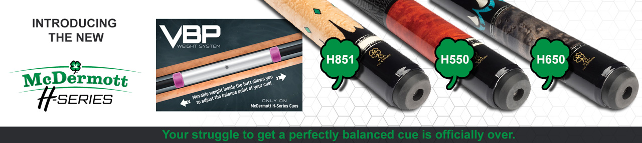 Banner mcdermott h series pool cues