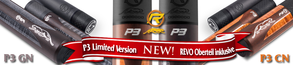 Predator P3 limited edition pool cues