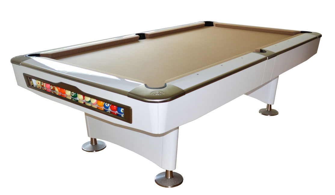 Olio pool table 4819 white 8ft for sale at beckmann for 12 foot snooker table for sale