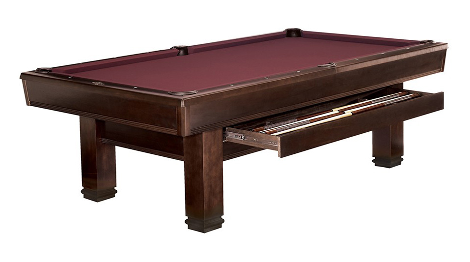 Billiard Table Pool Brunswick Bridgeport Ft With Drawer For Sale At - 8ft brunswick pool table