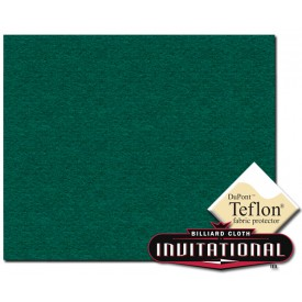 Championship Pool Felt  168cm Invitational Teflon 21oz Blue Green #033