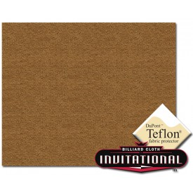 Championship Pool Felt Invitational Teflon 21oz Camel #047