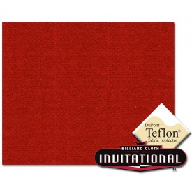 Billardtuch Championship 168cm Invitational Teflon 21oz Red #035