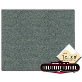 Championship Pool Felt Invitational Teflon 21oz Steel Gray #072