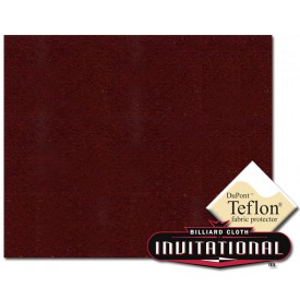 Billardtuch Championship 168cm Invitational Teflon 21oz Wine #066