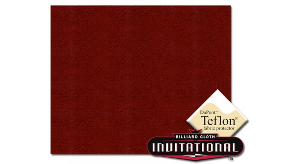 Championship Pool Felt 4066 Invitational Teflon 21oz Burgundy 62