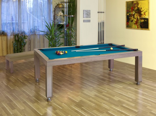 Pool table pronto vision 7 ft convertible dining table for Table billard convertible table a manger