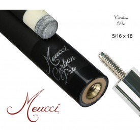 Meucci CARBON Queueoberteil 12,50 mm, 5/16x18 schwarz