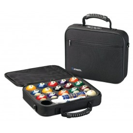 Ballcase with Aramith Poolset 57,2mm + Ballcleaner