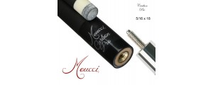 Meucci CARBON Queueoberteil 12,50 mm, 5/16x18 schw
