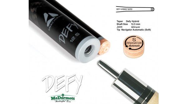 McDermott Queueoberteil DEFY 12,5 mm, Uni-Loc,   2