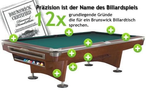 Brunswick Billardtische - beste Qualität und Technologie