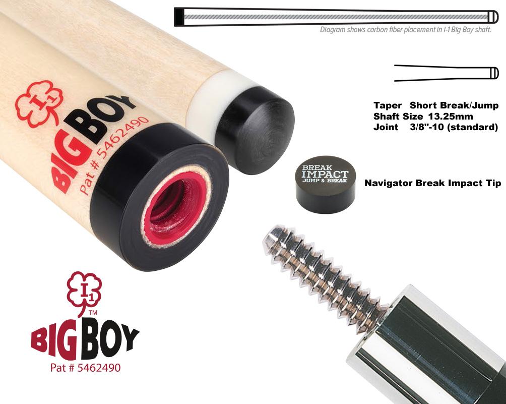 McDermott i-1 Big-Boy Break/Jump cue shaft 3/8 x10 joint