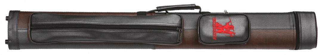 Cue Hard Case Champ 2/2 black/brown with shoulder strap
