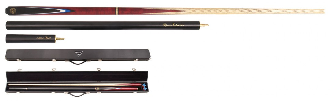Buffalo 3/4 Snooker 4-Piece De Luxe Pack with cue case