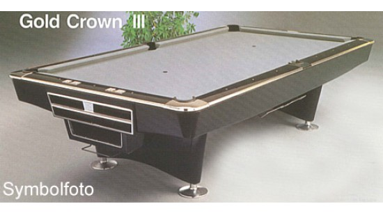 Pool Table Brunswick Gold Crown III Hi Tech black 9ft *used*
