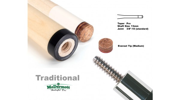 McDermott cue shaft Standard 3/8x10 joint