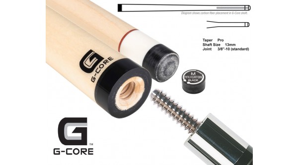 McDermott pool cue shaft G-Core 3/8x10 joint