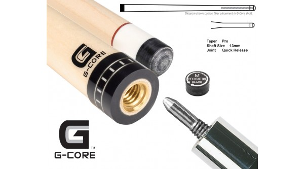 McDermott pool cue shaft G-Core QR joint