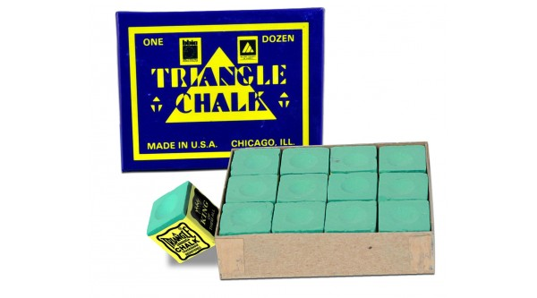 Triangle Chalk Green 12pcs.